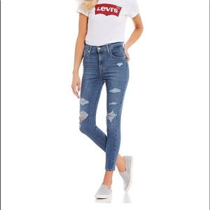 NWT Levi's Mike High Super Skinny Ankle Jeans 28